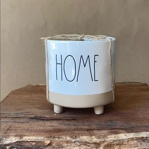 Rae Dunn Home footed planter